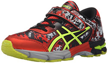 Asics 60% Off Gel Noosa Tri 11 PS Running Shoes Black/Flash Yellow/Orange