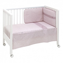 Cambrass Stela Bedding Crib Set Pink 4-Pieces