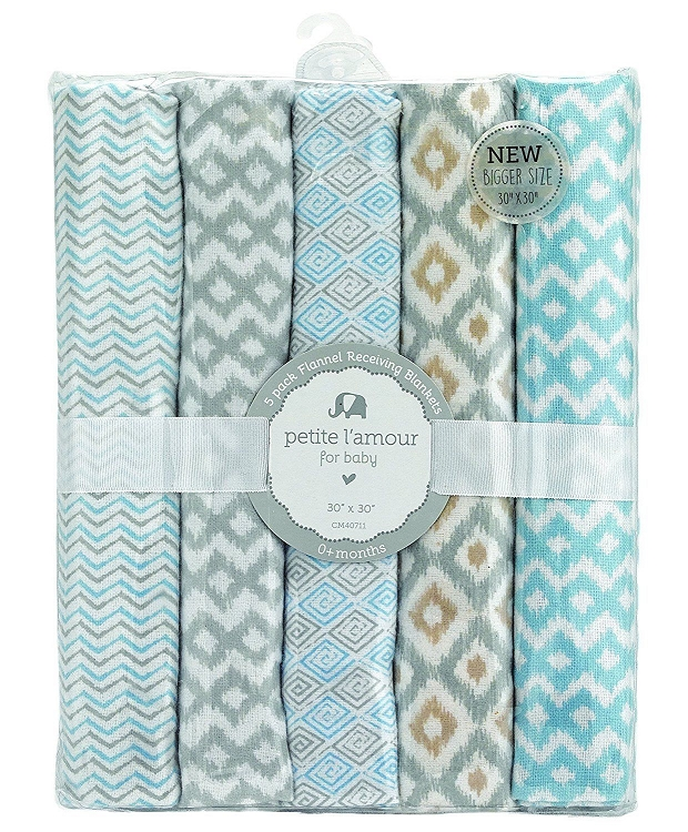 Petite L Amour 5-Pack Receiving Blankets