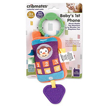 Baby King Cribmates Baby 1st Phone Plush Rattle Toy