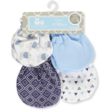 Baby King Cribmates Scratches Mittens 4-Pack Blue