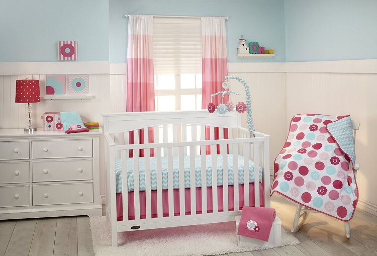 Little Bedding By Nojo Tickled Pink 3 Piece Crib