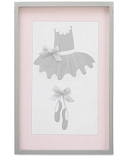 Crown Craft Nojo Ballerina Bows Wall Art