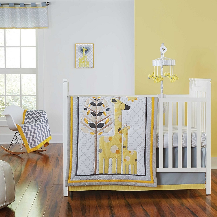 Yellow Baby Girl Bedding Crib Sets