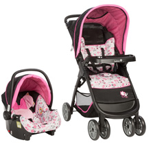 Safety 1st Disney Amble Quad Travel System, Garden Delight Minnie