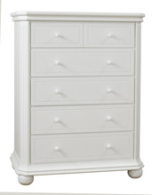 Sorelle Vista Elite 5 Drawer Dresser, White