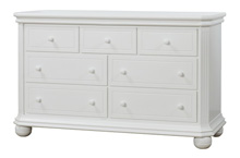 Sorelle Vista Elite Double Dresser White