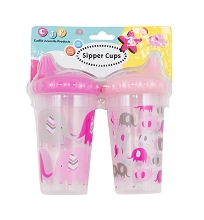 Cuddlie Accessories Elephant Sipper Cup 2-Pack Girl