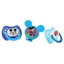 Disney Baby Mickey Mouse 3-Pieces Orthodontic Pacifier and Holder Set