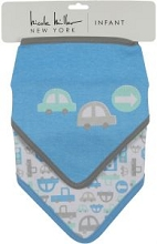 Nicole Miller Park and Ride 2 Pack Bandana Bibs Cars