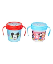 Disney Baby Mickey Mouse 2 Pack Reusable Snack Cups