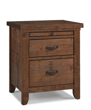 Dolce Babi Grado Nightstand Farmhouse Brown