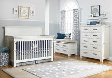Dolce Babi Lucca Furniture Set in Sea Shell White