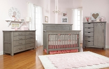 Dolce Babi Lucca Furniture Set in Weathered Grey