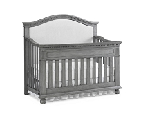 Dolce Babi Naples Upholstered Crib Convertible Nantucket Grey
