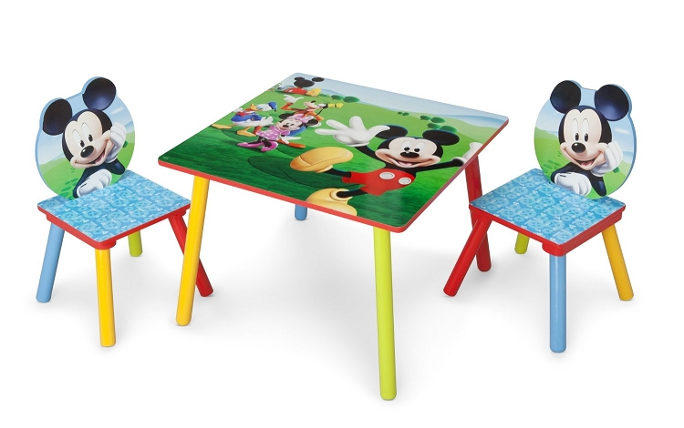 Fabulous Delta Children Disney Mickey Table And Chair Set Caraccident5 Cool Chair Designs And Ideas Caraccident5Info