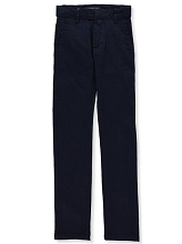 U.S Polo 50% Off School Uniform Flat Front Stretch Pant Boy, Navy