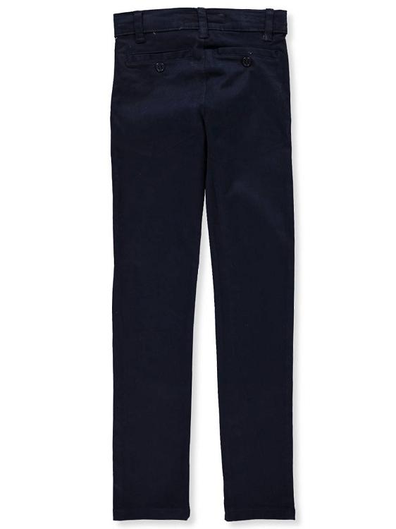 efc01375c1df48 ... Uniform Flat Front Stretch Pant Boy, Husky-Navy. Tap to expand