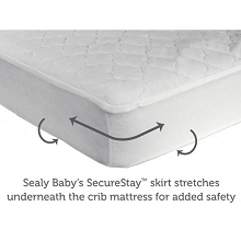 Kolcraft Sealy Stain Protection Crib Mattress Pad Cover