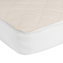 Kolcraft  Sealy Quilted Fitted Crib Mattress Pad with Organic Cotton Top