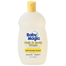 Baby Magic Hair & Body Wash, Soft Powder Scent, 16.5oz