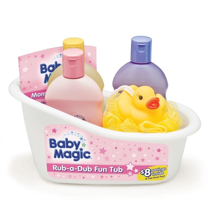 Baby Magic Rub-A-Dub Fun Tub Bath Gift Set - Ideal Baby