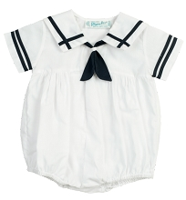 Feltman Brothers Sailor Creeper Boy White-Navy
