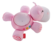 Fisher Price Pink Hippo Projection Soother