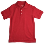 French Toast 50% School Uniform  Boy Pique Polo, Red