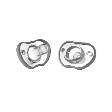 Nanobebe 2 Pack Flexy Pacifier 0-3 Months, Gray