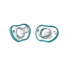 Nanobebe Flexy Pacifier 2 Pack, Silicone 0-3 Months+ Teal