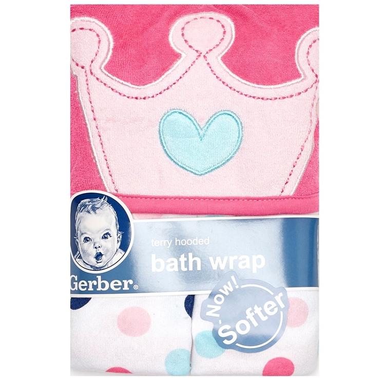 fc7c084444060 Gerber Princess 4 Pieces Terry Bath Wrap