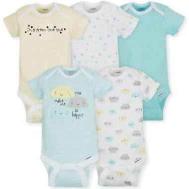 a901095bf2c9 Gerber 5 Pack Onesies® Neutral-Clouds 0-3 Months - Ideal Baby