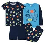 Gerber Outer Space 4-Pieces Pajama Set, Boy, 18 Months