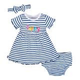 Gerber Thin Stripes 3 Pieces Dress, 3-6 Months