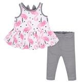 Gerber Flamingo 2 Pieces  Legging Set, Girl, 18 Months