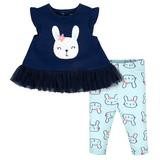 Gerber Flower  2 Pieces Legging Set, Girl, 6-9 Months