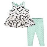 Gerber Dots 2 Pieces Legging Set, Girl, 3-6 Months