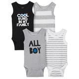 Gerber 4 Pack Sleveless Onesies® Cool Runs in My Family, 6-9 Months-Boy