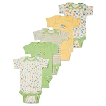 Gerber Short Sleeve Onesies® One Piece Underwear 6-9 months - Neutral - 5 Pack