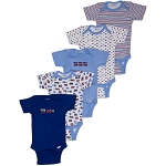 Gerber Short Sleeve Onesies® One Piece Underwear 5 Pack - Newborn - Boy