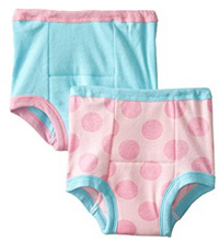 Gerber Little Girls' 2 Pack Training Pants - Big Dots, 3T
