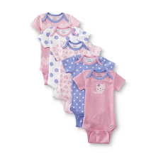 Gerber Baby Girls' Five-Pack Variety Bodysuits, Leopard - 6-9 Months