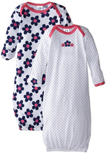 Gerber Baby Girls Newborn Two-Pack Nightgown 0-6 Months