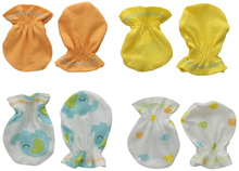 Gerber Baby 4 Pack Mittens, Elephant, 0-3 months