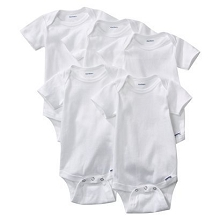 Gerber Short Sleeve Onesies One Piece Underwear 5 Pack Newborn