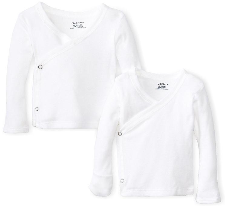Gerber Unisex Baby 2 Pack Long Sleeve Side Snap Mitten