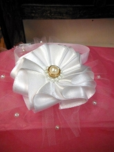 Will'beth Headband Flower with Pearl Accent