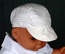 Will'beth Boy's White Cap