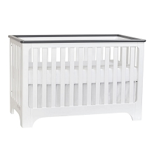 Suitebebe Brooklyn Island 3-in-1 Crib White-Gray